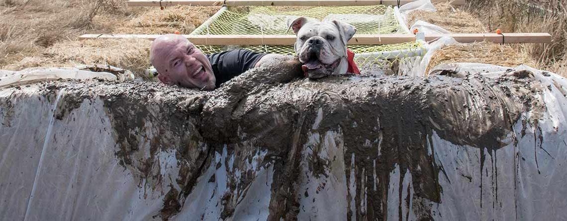 Happiest mud obstacle competitor